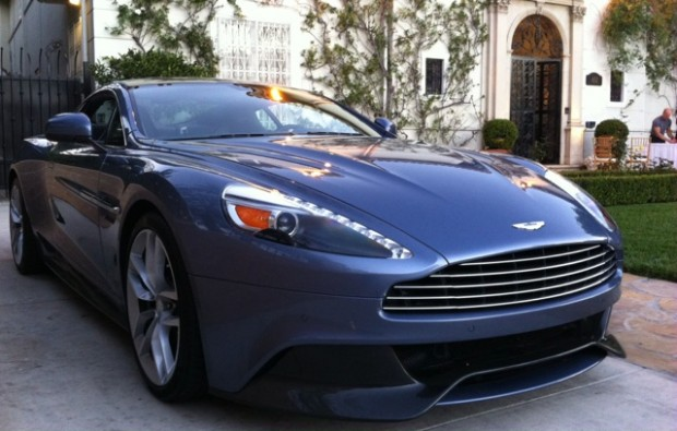 An Aston Martin Vanquish made an appearance at the New Year's British reception