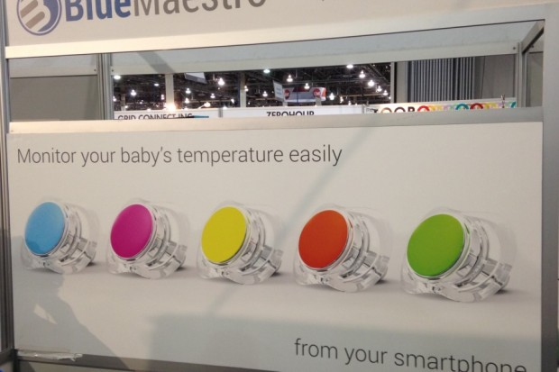 British firm Blue Maestro launched the world's first Bluetooth-connected pacifier at the show