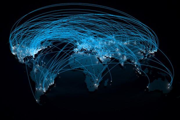 Map of global communications